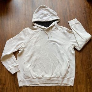 H & M off white hoodie size large